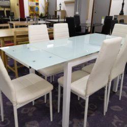 mesa extensible blanca
